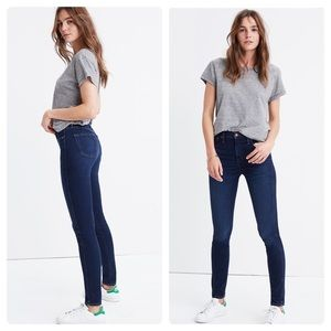 """New Madewell Petite 10"""" High-Rise Skinny Jeans 27P"""
